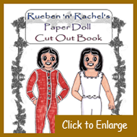 Rueben 'n' Rachel's Paper Doll Cut Out Book Cover